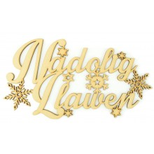 Laser cut 'Nadolig Llawen' Welsh Merry Christmas Sign
