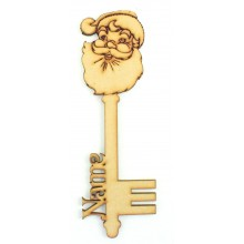 Laser Cut Personalised Magic Detailed Santa Christmas Key