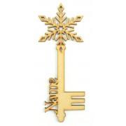 Laser Cut Personalised Magic Detailed Snowflake Christmas Key