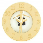 Laser cut Ballerina - Ballet Dancer Clock with Clock Mechanism