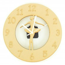 Laser cut Ballerina - Ballet Dancer Clock with Clock Mechanism