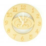 Laser cut Batman Logo Clock with Clock Mechanism
