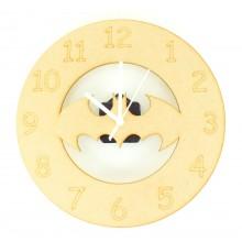 Laser cut Bat Clock with Clock Mechanism