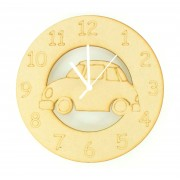 Laser cut Car Clock with Clock Mechanism