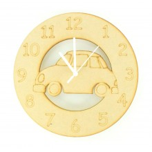 Laser cut Car Clock with Clock Mechanism