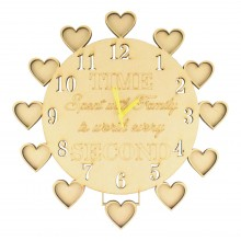 Laser Cut 'Time Spent with Family is worth every second' Clock with Photo Frames - 6mm thickness - NO NAMES