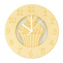 Laser cut Cupcake Clock with Clock Mechanism