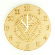 Laser cut Ironman Logo Clock with Clock Mechanism