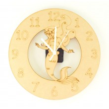Laser cut Mermaid Clock with Clock Mechanism