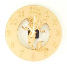 Laser cut Mermaid Clock with Clock Mechanism