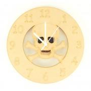 Laser cut Skull and Crossbones Clock with Clock Mechanism