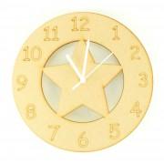 Laser cut Star Clock with Clock Mechanism