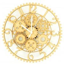 Laser cut Steampunk Clock with Clock Mechanism