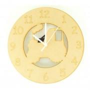 Laser cut Tractor Clock with Clock Mechanism