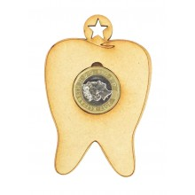 Laser Cut Hanging Tooth £1 Coin Holder