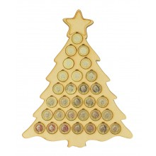 Laser Cut Large Christmas Tree £1 Coin Holder - To Hold £30 Coins