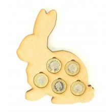 Laser cut Easter Rabbit £1 Coin Holder