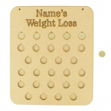 Laser cut Personalised 28lb Weight Loss Chart £1 Coin Holder