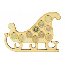 Laser cut Christmas Sleigh £1 Coin Holder