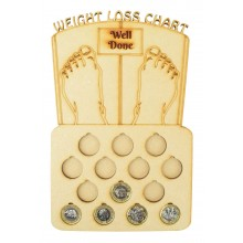 Laser Cut 14lb Weight Loss £1 Coin Holder with Engraved Scales on Top