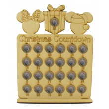 Laser Cut Christmas Countdown £1 Coin Holder - Mouse Head Shapes