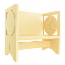 Routered 18mm MDF Quality Flat packed Football Novelty Chair