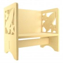Routered 18mm MDF Quality Flat packed Rocket Novelty Chair