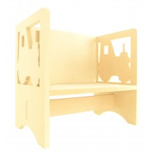 Routered 18mm MDF Quality Flat packed Tractor Novelty Chair