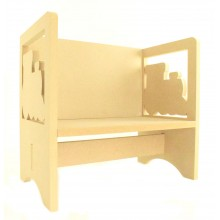 Routered 18mm MDF Quality Flat packed Train Novelty Chair