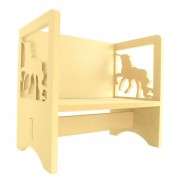 Routered 18mm MDF Quality Flat packed Unicorn Novelty Chair