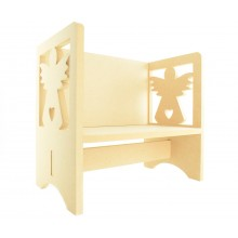 Routered 18mm MDF Quality Flat packed Angel Novelty Chair