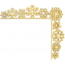 Laser Cut Tumbling Door Frame Decoration - Snowflakes