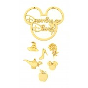 Laser Cut 'Dreaming of Disney' Mouse Head Dream Catcher with Hanging Charm Shapes
