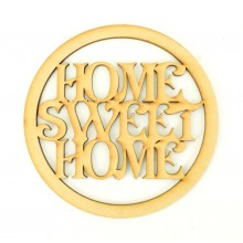 Laser Cut Mini Dream Catcher Frame with 'Home Sweet Home' Wording Inside