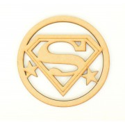 Laser Cut Mini Dream Catcher Frame with Superhero Logo Shape Inside