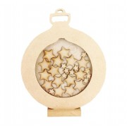 Freestanding MDF Christmas Bauble Countdown Dropbox - Mixed Star Tokens