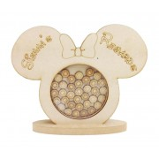 Freestanding MDF Personalised Girls Mouse Head Childrens Reward Chart Drop Box - Face Tokens