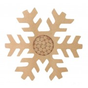 Freestanding MDF Large 3D Snowflake Christmas Countdown Dropbox  - Plain Tokens