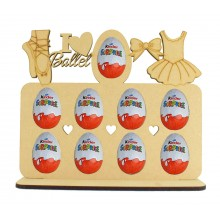 6mm Ballet Themed Plaque Kinder Egg Holder on a Stand