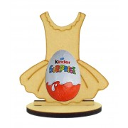 6mm Ballet Tutu Kinder Egg Holder on a Oval Stand