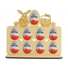 6mm Easter Bunny Themed Plaque Kinder Egg Holder on a Stand