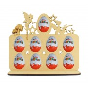 6mm Fairy Themed Plaque Kinder Egg Holder on a Stand