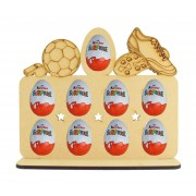 6mm Football Themed Plaque Kinder Egg Holder on a Stand
