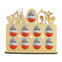 6mm Magic Castle Themed Plaque Kinder Egg Holder on a Stand
