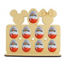 6mm Mouse Heads Themed Plaque Kinder Egg Holder on a Stand