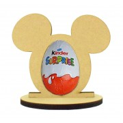 6mm Mouse Head Kinder Egg Holder on a Oval Stand