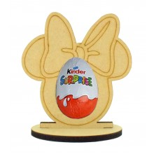 6mm Mouse Head with Bow Kinder Egg Holder on a Oval Stand