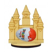 6mm Princess Castle Kinder Egg Holder on a Oval Stand