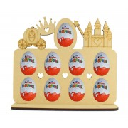 6mm Princess Themed Plaque Kinder Egg Holder on a Stand