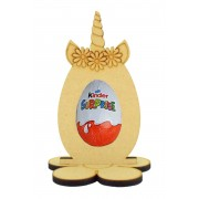 6mm Unicorn Easter Egg Kinder Egg Holder on a Flower Shape Stand
